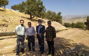 بازدید میدانی مدیر عامل شرکت گاز استان ایلام از پروژه گازرسانی به دو شهر باقیمانده استان