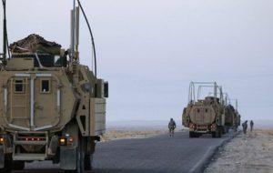 یک کاروان لجستیک دیگر ارتش آمریکا در بغداد هدف قرار گرفت