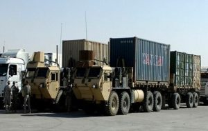 سومین کاروان لجستیک نظامیان آمریکا در عراق هدف قرار گرفت