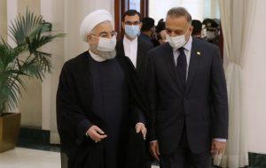 روحانی در گفتوگو با الکاظمی: امنیت عراق را امنیت خود میدانیم/ عملکرد امریکا در مرزهای عراق و سوریه غلط بوده و اوضاع را پیچیده تر می کند