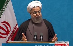 روحانی در جمع دانشجویان دانشگاه تهران: هیچ قدمی در مساله برجام برنداشتیم مگر آنکه با مقام معظم رهبری مشورت کردیم و جلسه گذاشتیم